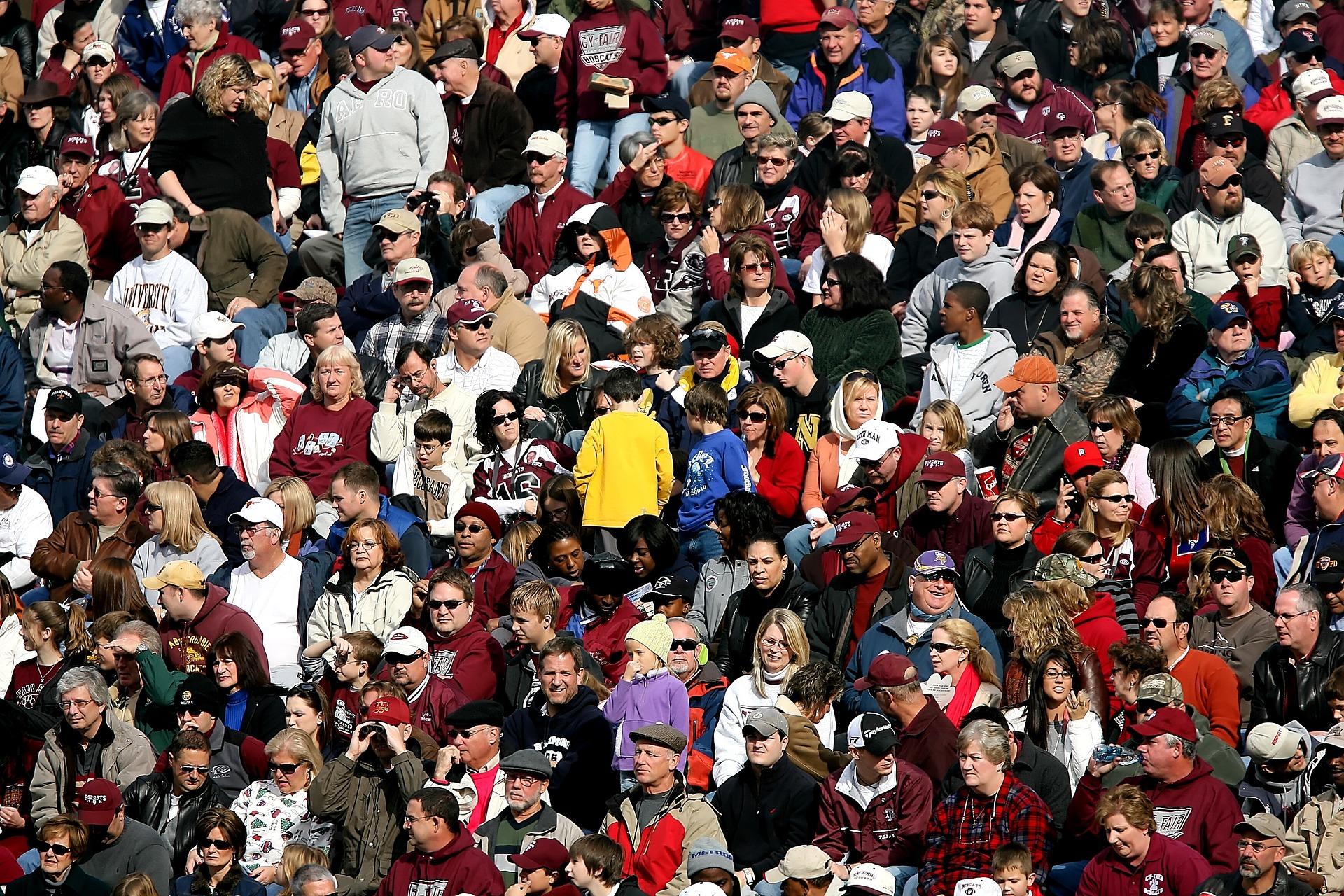 サッカーの観客