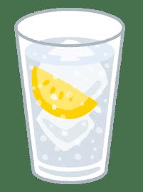 炭酸水にレモン